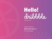 Hello! Dribbble