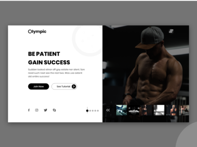 Gym Motivational Minimalist UI/UX Design