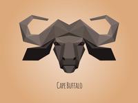 Low poly Cape Buffalo