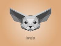 Low poly Fennec Fox