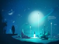 Futuristic Space Concept Art