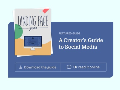 Featured Guide featured content form blog design