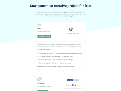 Pricing page variant pricing table pricing matrix pricing page
