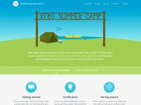 Summer Camp landing page