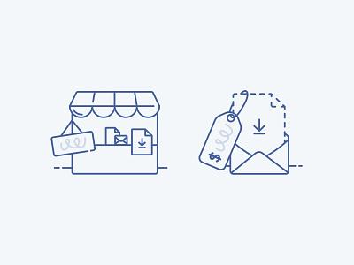 ConvertKit Commerce empty state illustrations ecommerce store icon icon illustration empty state