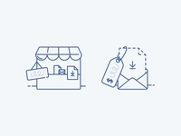 ConvertKit Commerce empty state illustrations ecommerce store icon icon illustration empty state