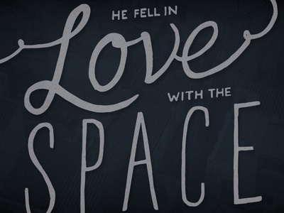He Fell In Love With The Space Between Two Buildings