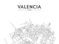 Simplified street map