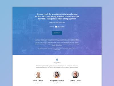 ConvertKit Conference landing page