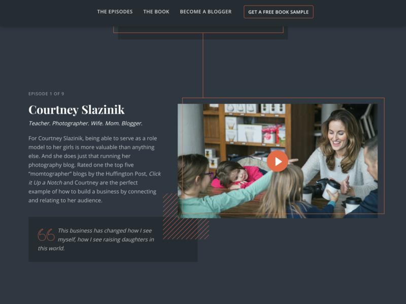 I Am A Blogger Website dark mode content landing page video content web design website
