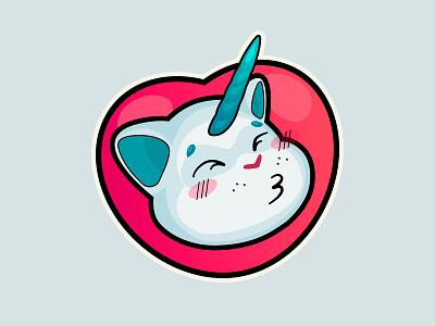 stickers cat-unicorn (unicat) unicorn cat stickers sticker