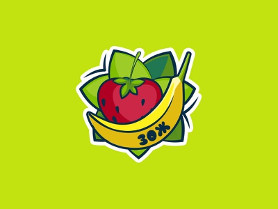 proper diet logo strawberry banana logo