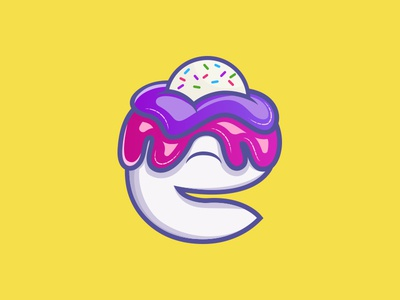 letter e logo icecream e letter logo