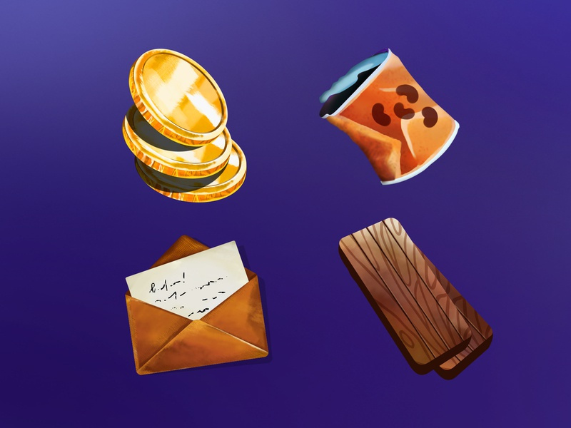 Game icons game icons woods letter can canned food money donate art illustration
