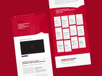"Cool red UX/UI redesign for ""SKILLARY"" (test work)"