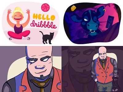 2018 vector poses art flat graphics girl character illustration