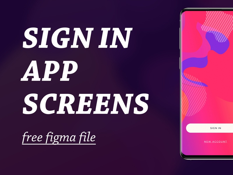 free sign in design ui design figma sign in app ui