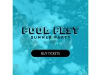 Pool Fest Editable Banner
