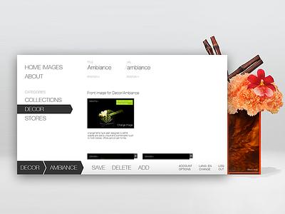 Armani/Fiori - Data Management UI ux design ui design ux ui floral armani admin