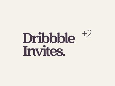 Dribbble invites. 2 invites dribble invites dribbleinvite