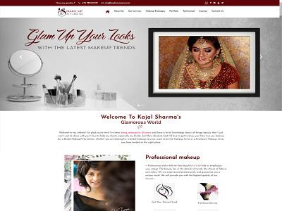 Beauty Salon socialmedia startup business ux design website design beauty salon