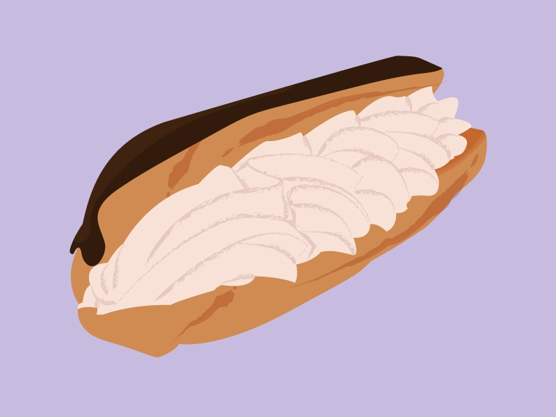 Eclair Illustration sweets 100 day project dessert spot illustration illustration