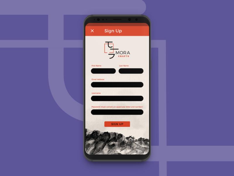 Sign Up — Daily UI #001 febuiry 001 dailyui materialdesign mobiledesign visualdesign ui
