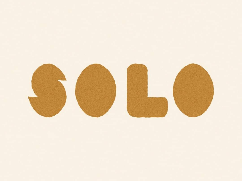 [solo] type typography graphic design geometric simple bold chunky hand lettering lettering