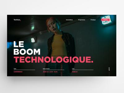 Techtour 2019 🤖(event banner) | A fictional event