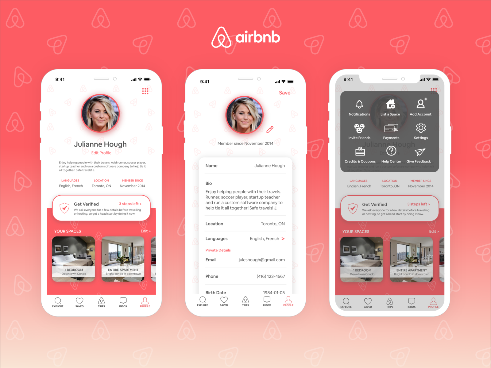 Airbnb User Profile By Sarah Chudawala