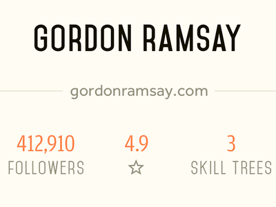 chef info layout social profile typography