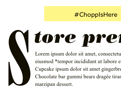 Chopp Weekly Newsletter typography newsletter email