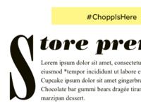 Chopp Weekly Newsletter