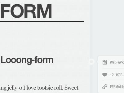 Looong form