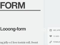 looong-form