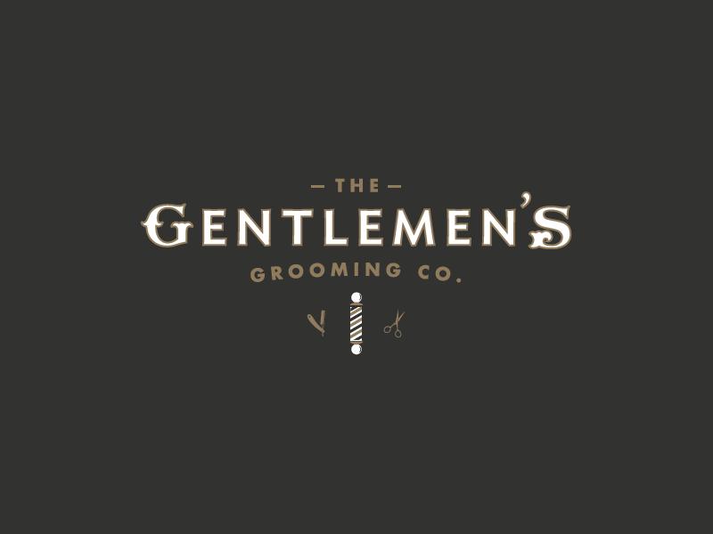 The Gentlemens Grooming Co. graphicdesign grooming barbershop logo identity design branding