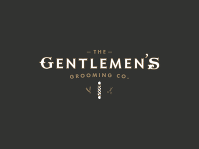 The Gentlemens Grooming Co. graphicdesign grooming barbershop logo identity design branding