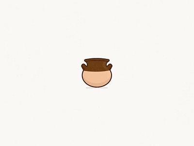 Olla de Barro mexico clay pottery pot ceramic olla design illustration