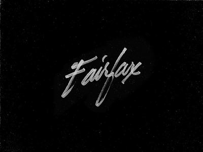 Fairfax graphic design graphic design typography lettering
