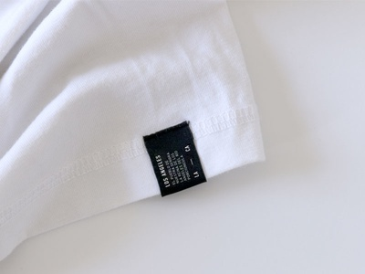 T-shirt Label blackandwhite label lettering shirt branding california clothing tag menswear losangeles