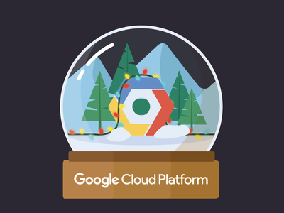 GCP Winter holiday lights christmas lights snow globe christmas winter platform cloud google google cloud platform