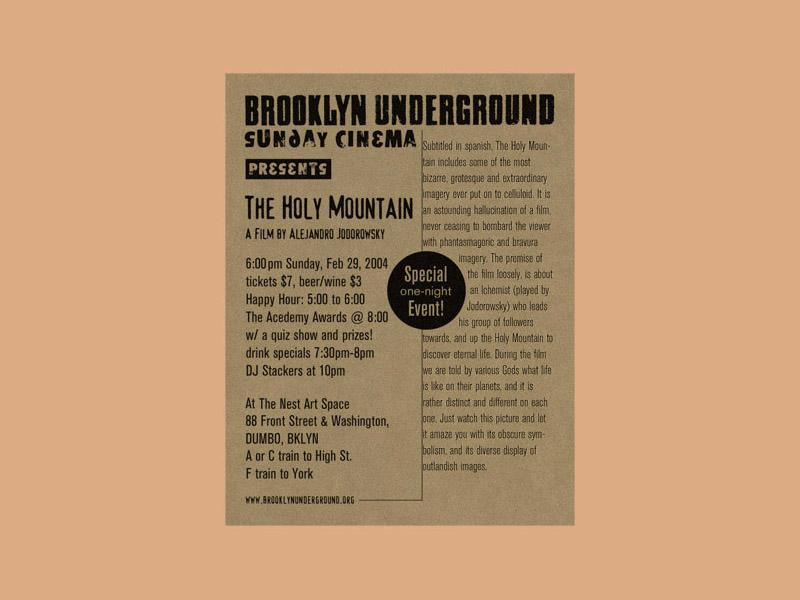 Brooklyn Underground Film Festival illustraion poster design package design design illustration branding logo art type design print design typography