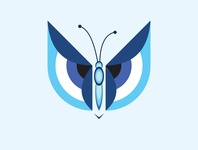 butterfly logo with owl design