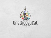 groovy cat logo design