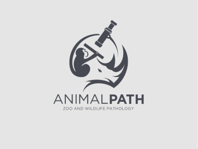 Animal path logo design