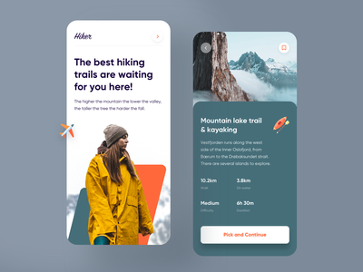Travel App Exploration hiking travel android iphone minimal app clean