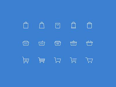 Free Shopping Cart Icons freebie free icons ecommerce cart basket vector psd