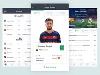Sports App Screens