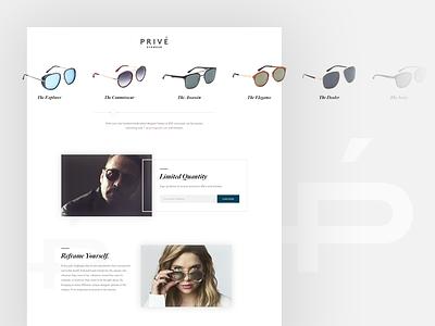 Prive Eyewear web clean minimal grey white style fashion sunglasses glasses eyewear