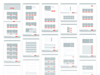 Auction Wireframes
